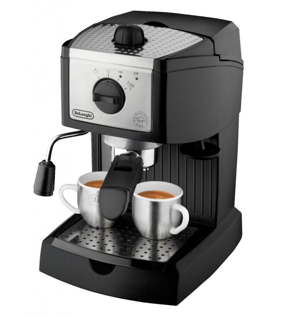 diseño de la cafetera delonghi ec155